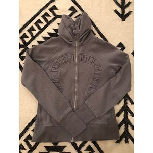 💯Authentic Lululemon gray sparkle zip up 10